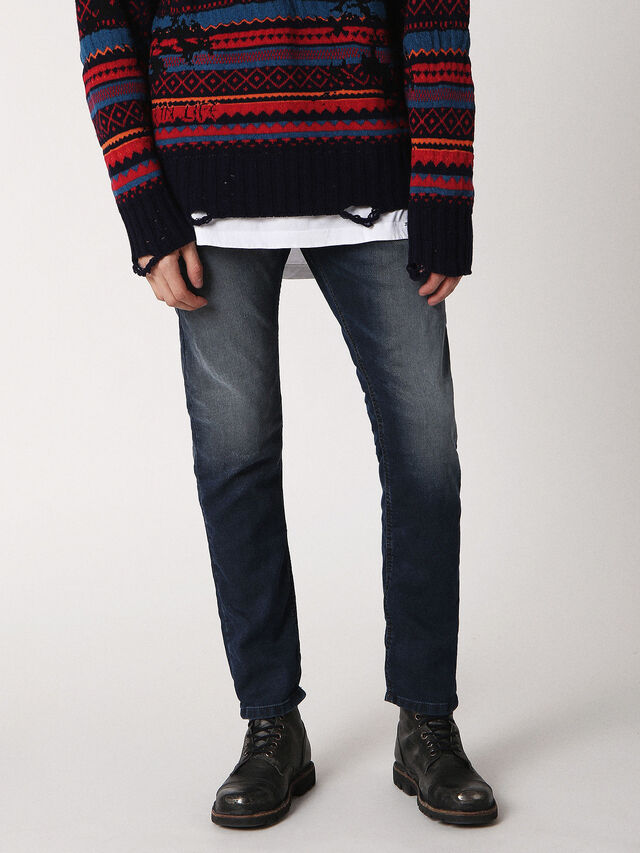 Diesel - Krooley JoggJeans 0683Y, Dark Blue - Jeans - Image 1