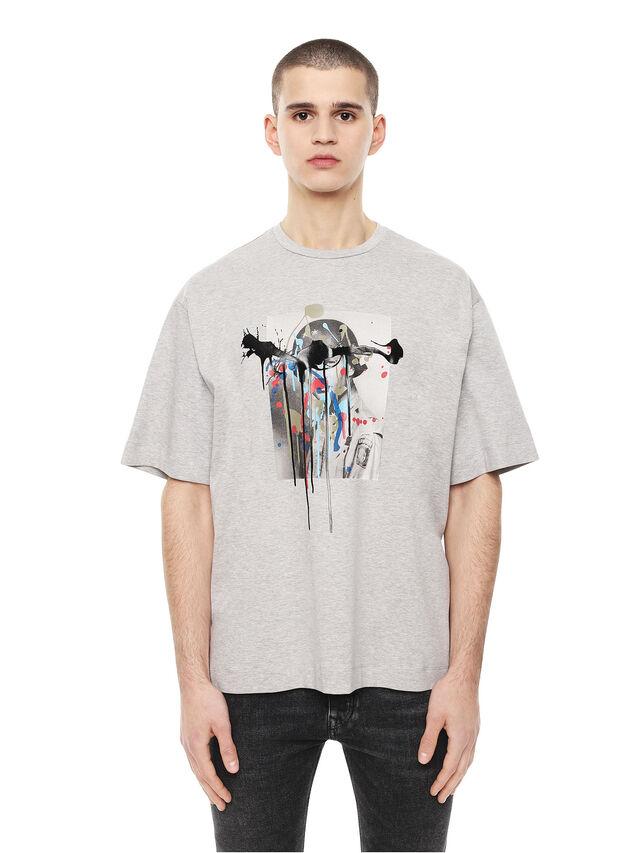 Diesel - TEORIA-MELTINGSOLDIE, Grey - T-Shirts - Image 1
