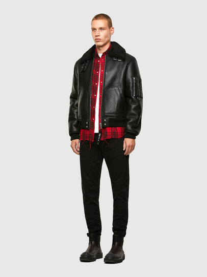 Diesel - L-ARNOLD, Black - Leather jackets - Image 6