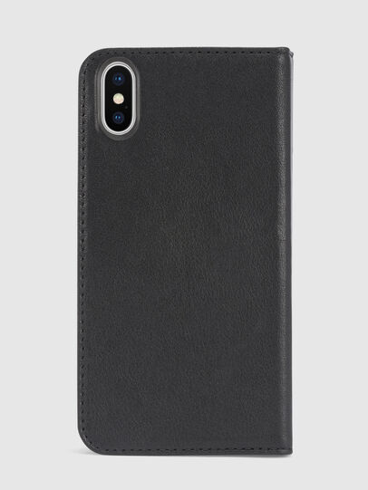 Diesel - BLACK DENIM/STUD/ZIPPER IPHONE X FOLIO,  - Flip covers - Image 3