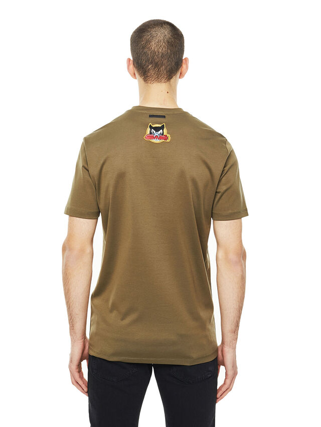 Diesel - TY-PATCHES, Military Green - T-Shirts - Image 2