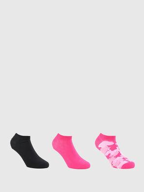 SKM-GOST-THREEPACK, Black/Pink - Socks