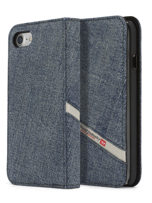 Diesel - DENIM IPHONE 8 PLUS/7 PLUS FOLIO, Blue Jeans - Flip covers - Image 3