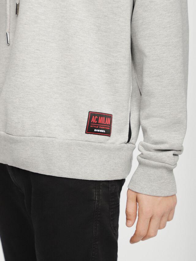 Diesel - DVL-SIZIP-CAPSULE, Grey - Sweaters - Image 5