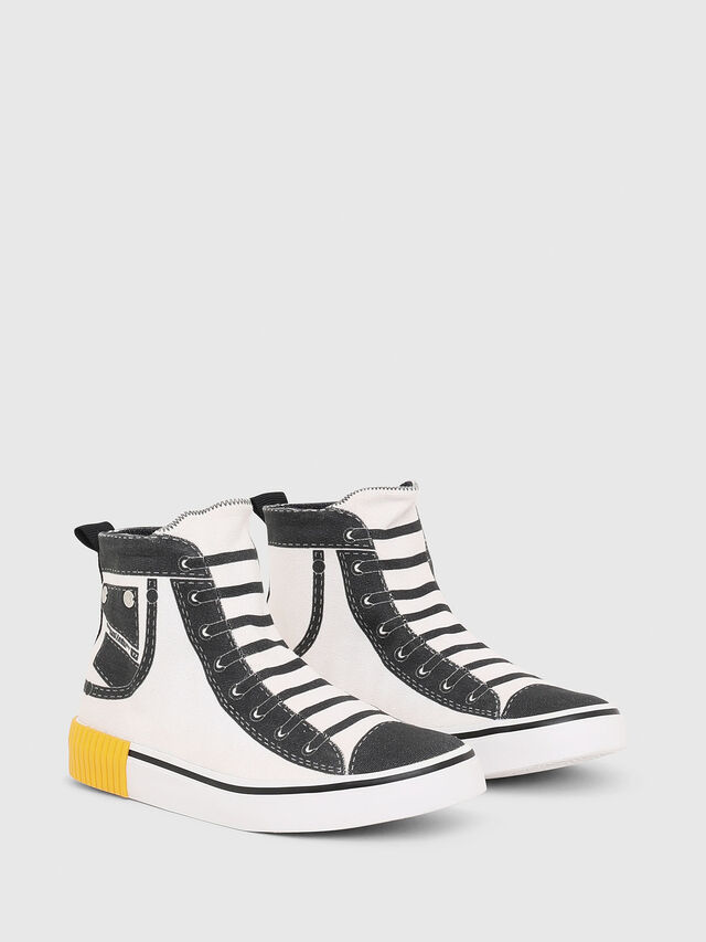 Diesel - SN MID 08 GRAPHIC CH, White/Black - Footwear - Image 2