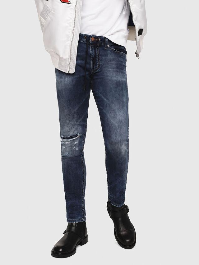 Diesel - Thommer JoggJeans 069AA, Dark Blue - Jeans - Image 1