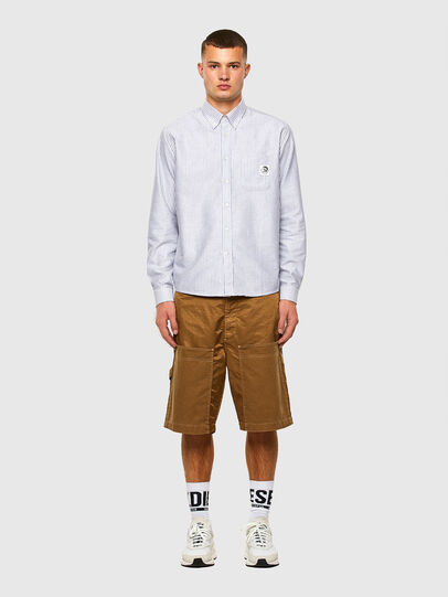 Diesel - S-JAMES-A, Blue/White - Shirts - Image 5