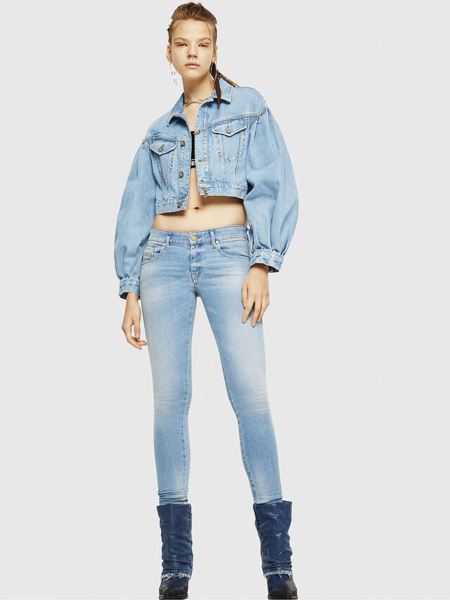 Diesel - Slandy Low 086AA, Light Blue - Jeans - Image 6