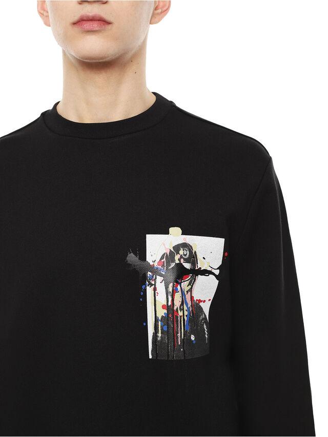 Diesel - SNEILB-DRIPPINGSOLDI, Black - Sweaters - Image 3