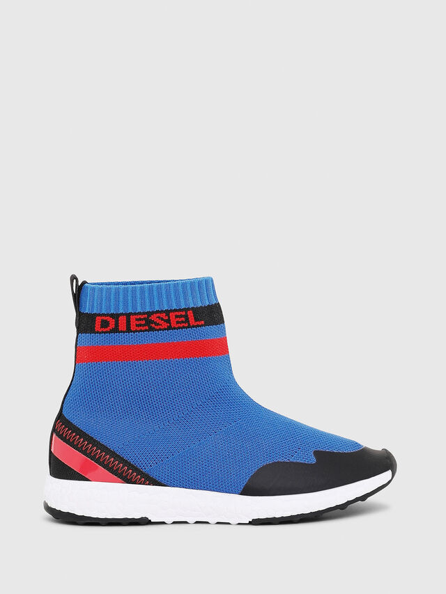 Diesel - SLIP ON 03 S-K SOCK, Blue - Footwear - Image 1
