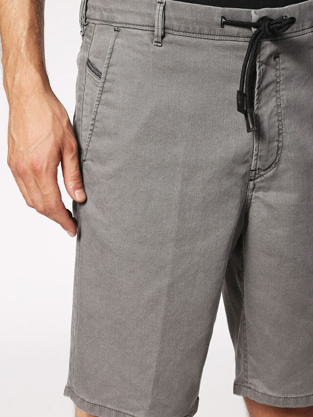 Diesel - CHINO-SHORT JOGGJEANS, Grey - Shorts - Image 5