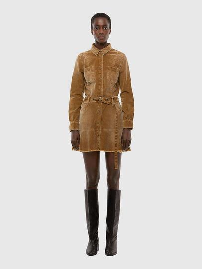 Diesel - D-SHAY-A, Light Brown - Dresses - Image 1