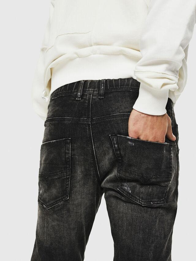 Diesel - Dvl-Krooley JoggJeans 0077S, Black/Dark grey - Jeans - Image 3