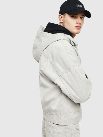 Diesel - D-EDDY, White - Denim Jackets - Image 5