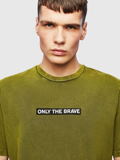 Diesel - T-JUST-SLITS-T15, Yellow - T-Shirts - Image 3