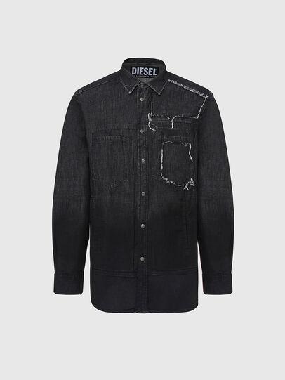 Diesel - D-NESKY, Black - Denim Shirts - Image 1