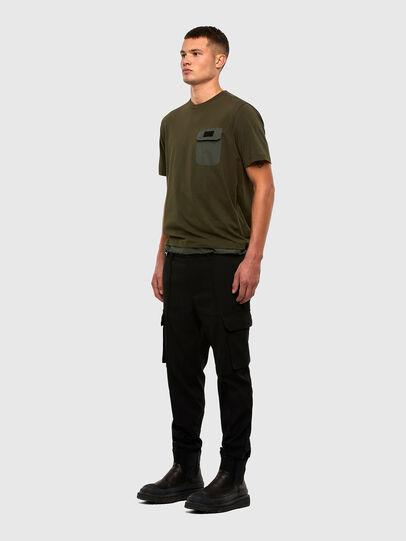 Diesel - T-ARMI, Olive Green - T-Shirts - Image 5