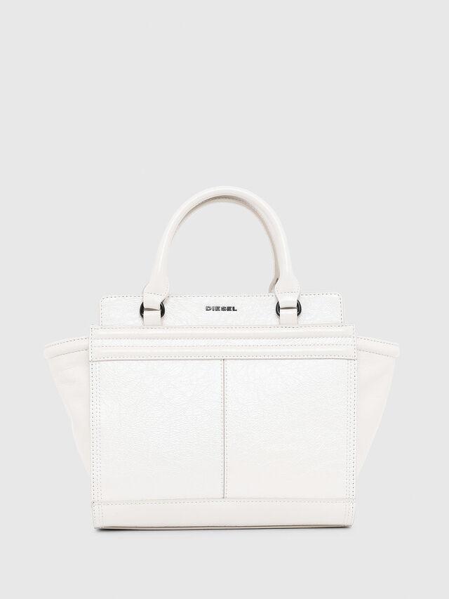 Diesel - LE-ZIPPER SATCHEL S, White - Satchels and Handbags - Image 1