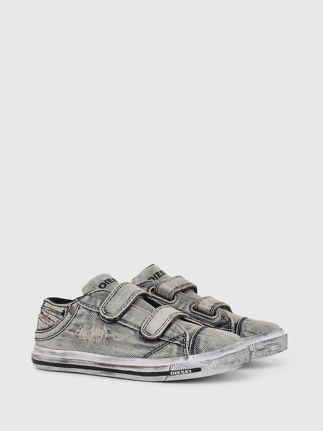 Diesel - SN LOW STRAP 11 DENI, Grey Jeans - Footwear - Image 2