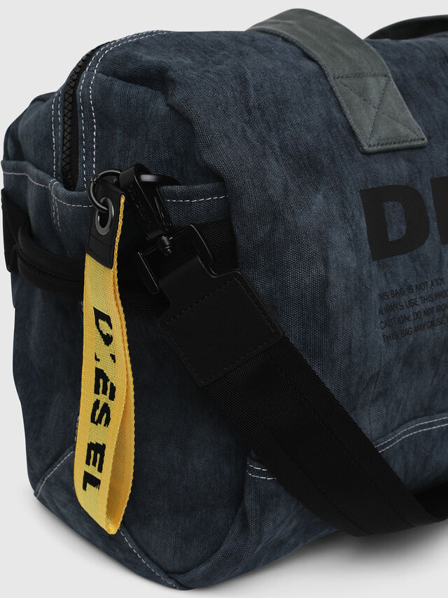 Diesel - D-THISBAG TRAVEL BAG, Blue Jeans - Travel Bags - Image 3