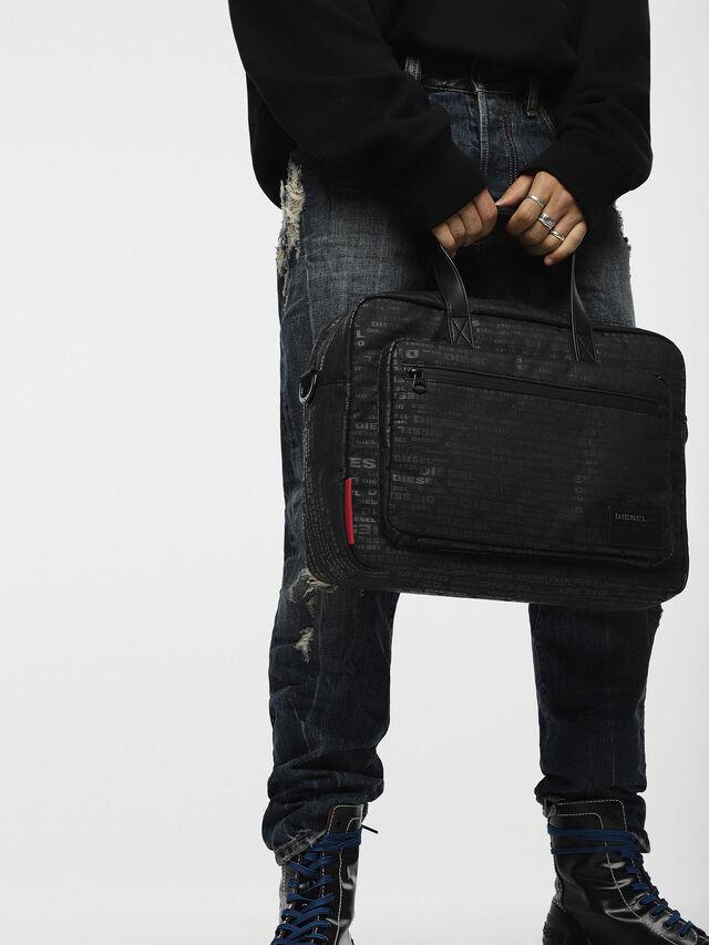 Diesel - F-DISCOVER BRIEFCASE, Black - Briefcases - Image 4