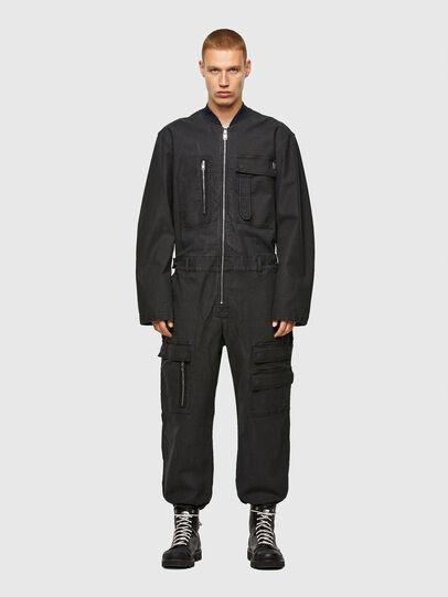 Diesel - D-DEVO-SP JOGGJEANS, Black - Jumpsuits - Image 1