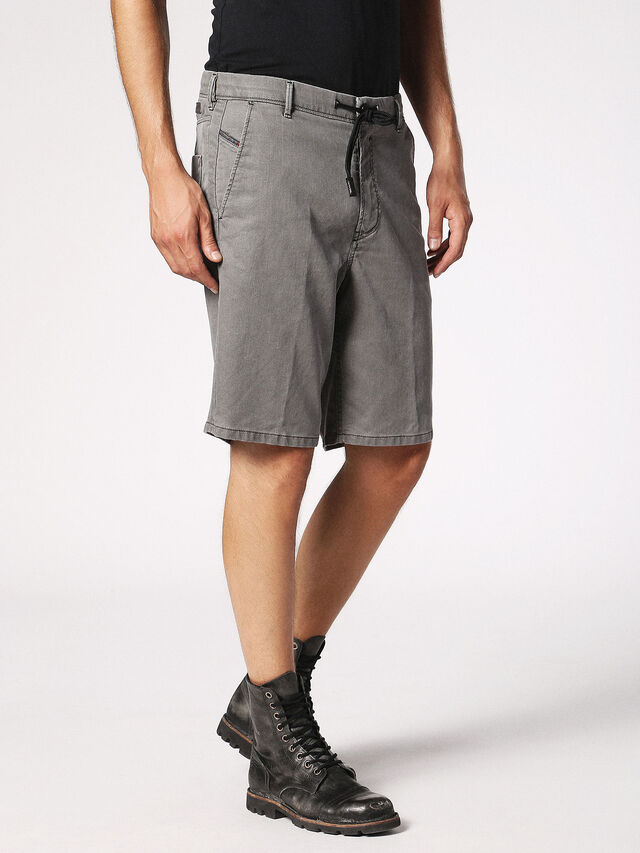 Diesel - CHINO-SHORT JOGGJEANS, Grey - Shorts - Image 3