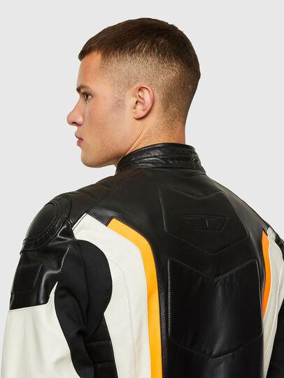 Diesel - ASTARS-LDUE-B, Black - Leather jackets - Image 4
