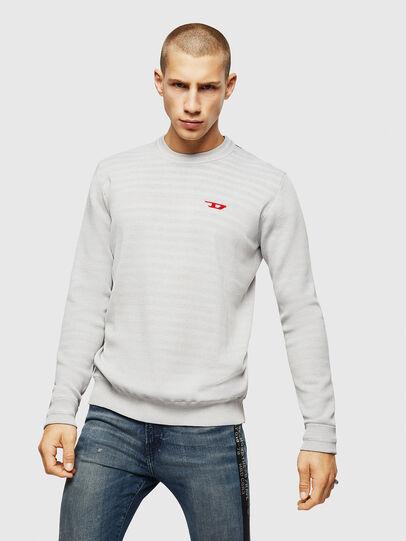 Diesel - K-LUISS, Light Grey - Knitwear - Image 1