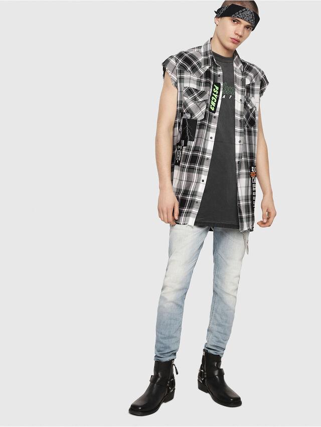 Diesel - S-EAST-LESS, Black/White - Shirts - Image 6