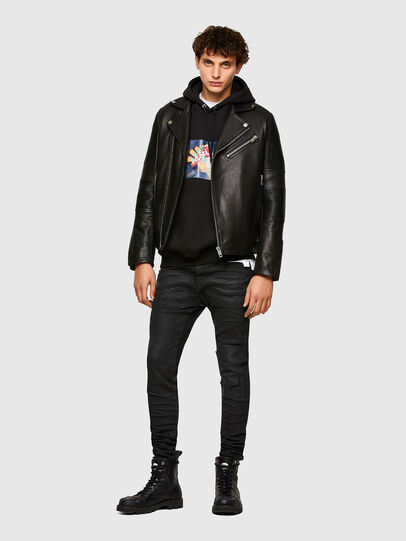 Diesel - L-STARKVILLE, Black - Leather jackets - Image 6