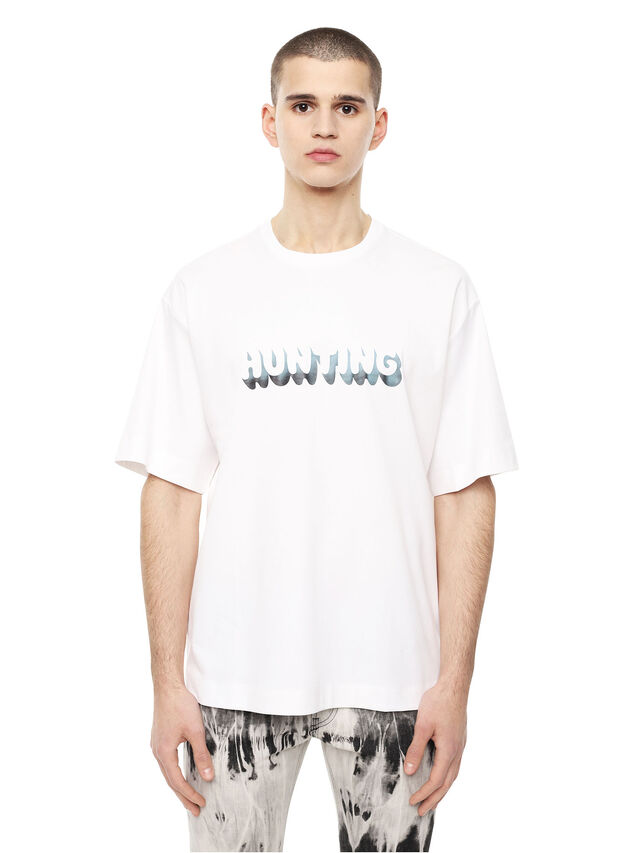 Diesel - TEORIAL-HUNTER, White - T-Shirts - Image 1