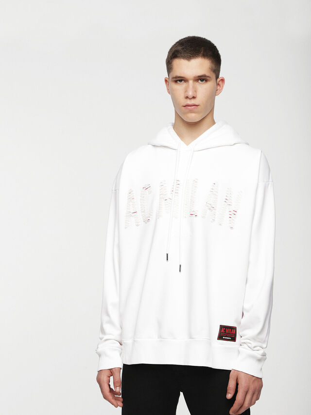 Diesel - DVL-SIZIP-CAPSULE, White - Sweaters - Image 1