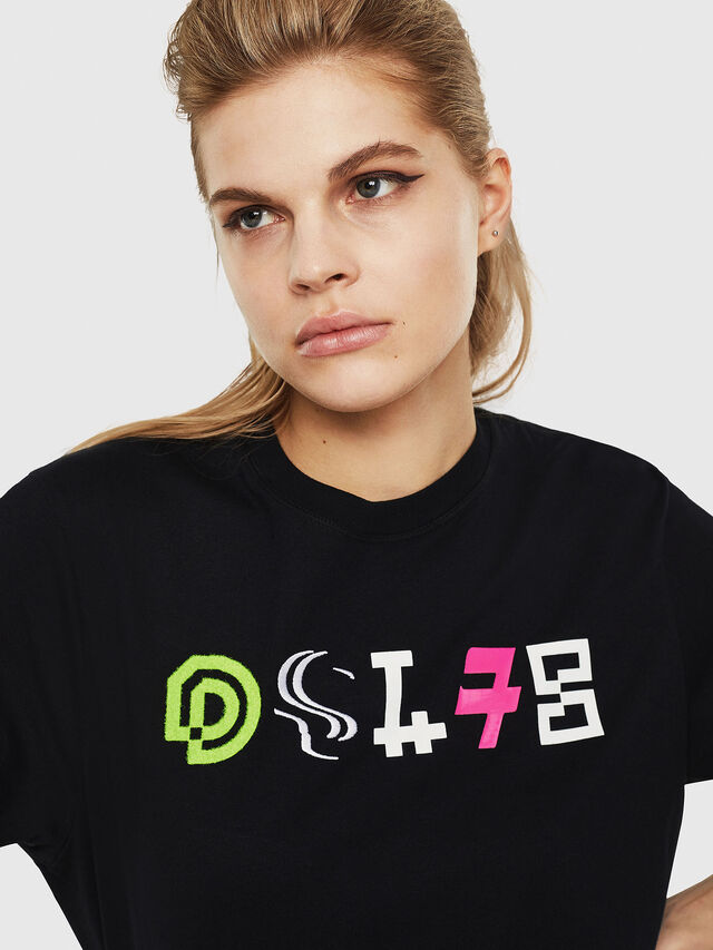 Diesel - T-JUST-Y17-FL, Black - T-Shirts - Image 3