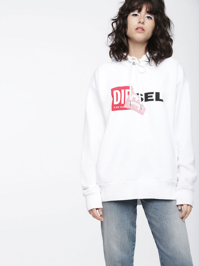 Diesel F-ALBY-FL-A, White - Sweaters - Image 1