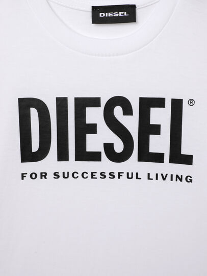Diesel - TJUSTLOGOB-R, White - T-shirts and Tops - Image 3