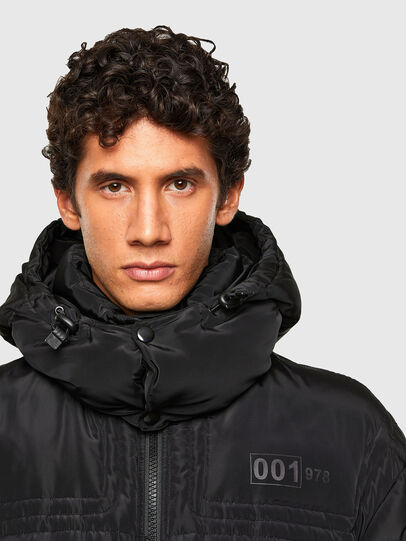 Diesel - W-RUSSELL-LONG, Black - Winter Jackets - Image 3