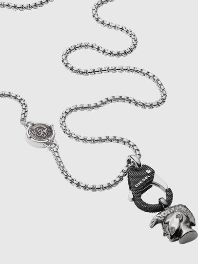 Diesel - DX1148, Silver/Black - Necklaces - Image 2