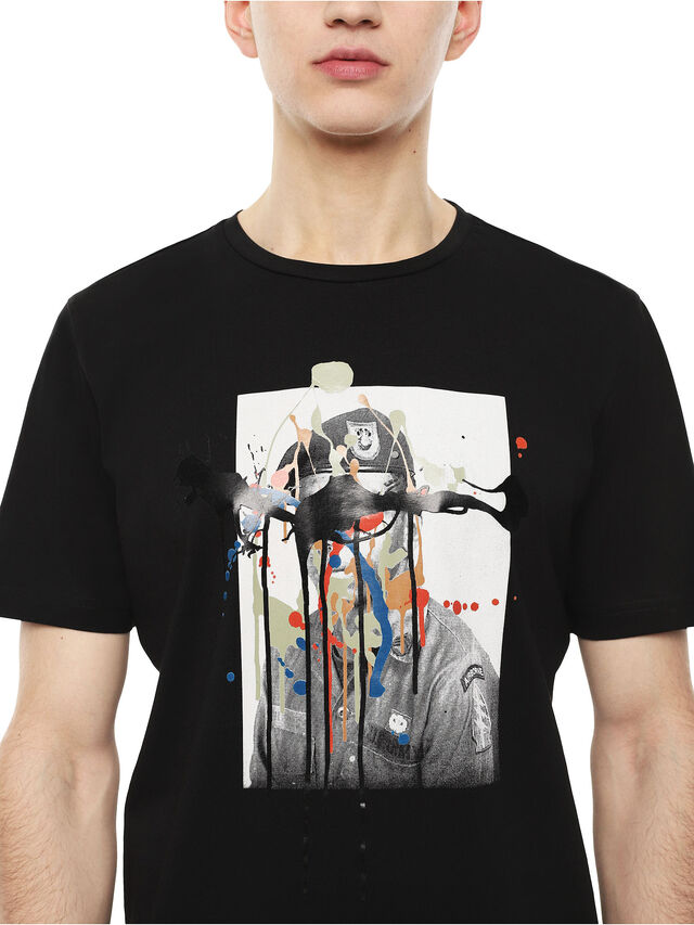 Diesel - TY-DRIPPINGSOLDIER, Black - T-Shirts - Image 3