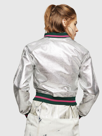 Diesel - L-NOTE, Silver - Leather jackets - Image 2