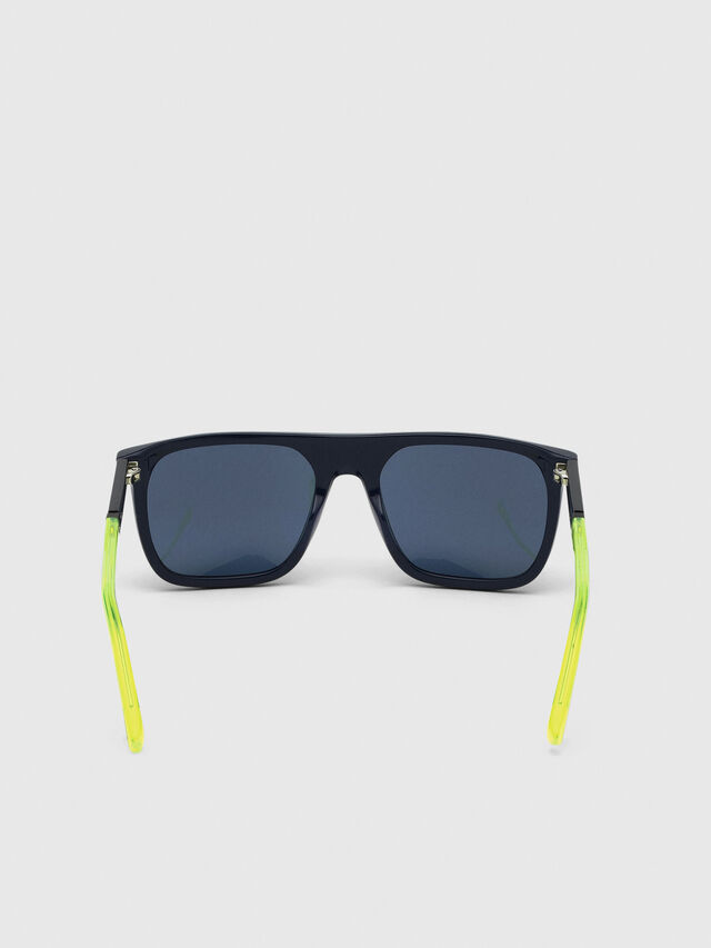 Diesel - DL0299-F, Blue/Yellow - Sunglasses - Image 4
