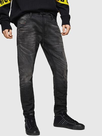 Diesel - Krooley JoggJeans 069GN, Black/Dark grey - Jeans - Image 1