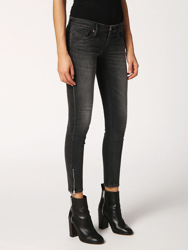 SKINZEE-LOW-ZIP 0688F, Grey Jeans
