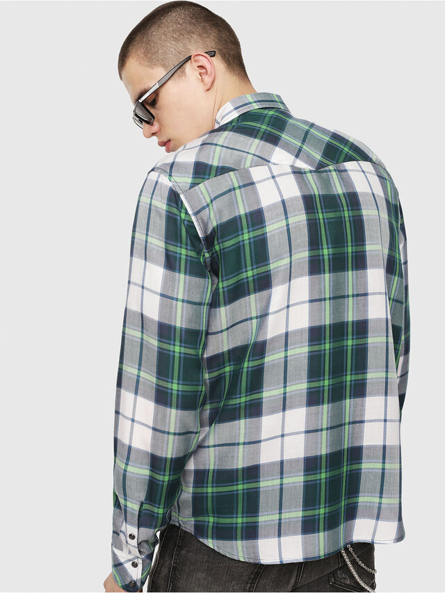 Diesel - S-EAST-LONG-F, Green/Grey - Shirts - Image 2