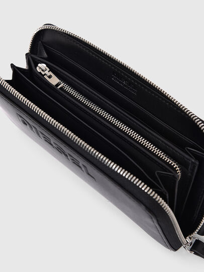 Diesel - 24 ZIP, Black - Zip-Round Wallets - Image 3