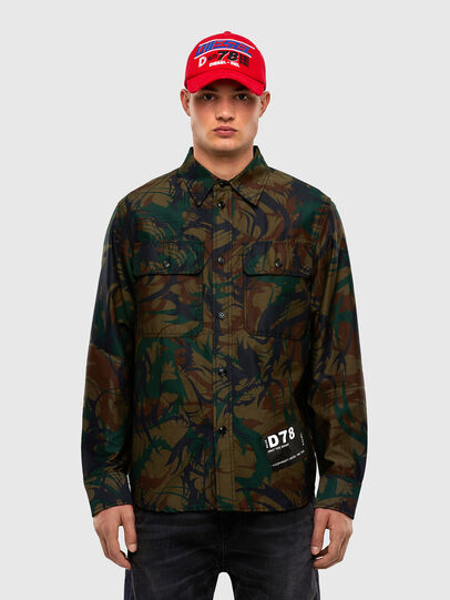 Diesel - S-JESSY-DES, Military Green - Shirts - Image 1