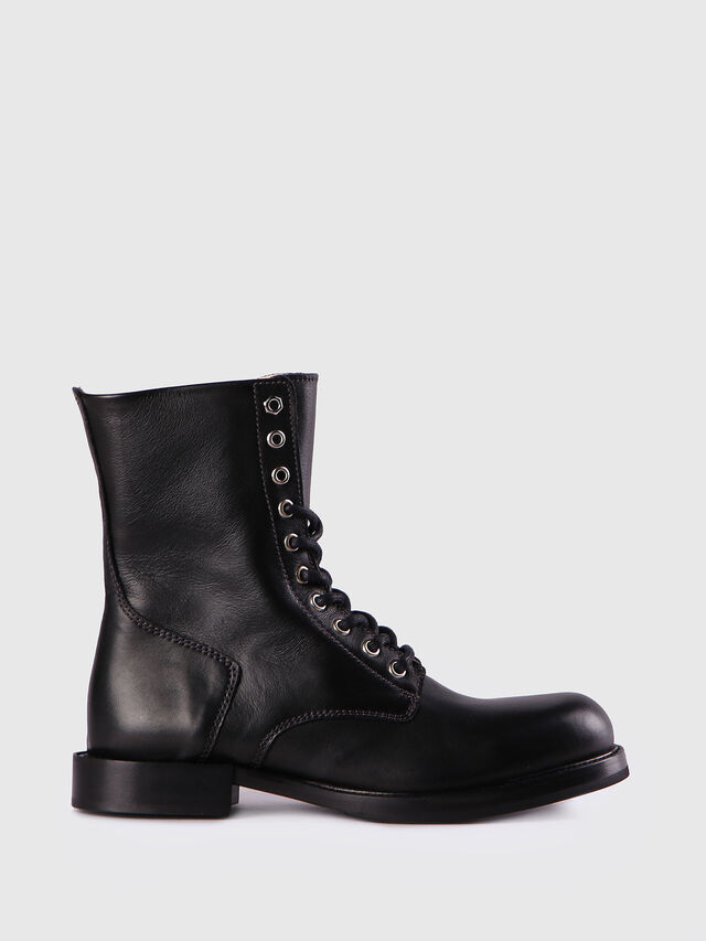 Diesel - D-KOMB BOOT CB, Black Leather - Ankle Boots - Image 1