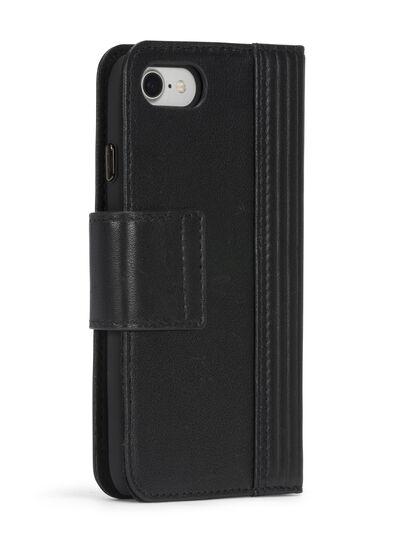 Diesel - BLACK LINED LEATHER IPHONE 8 PLUS/7 PLUS FOLIO,  - Flip covers - Image 7