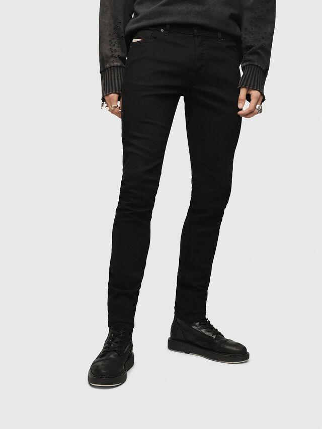 Diesel Sleenker 0886Z, Black/Dark grey - Jeans - Image 1