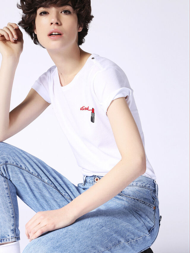 Diesel - T-SILY-F, White - T-Shirts - Image 1